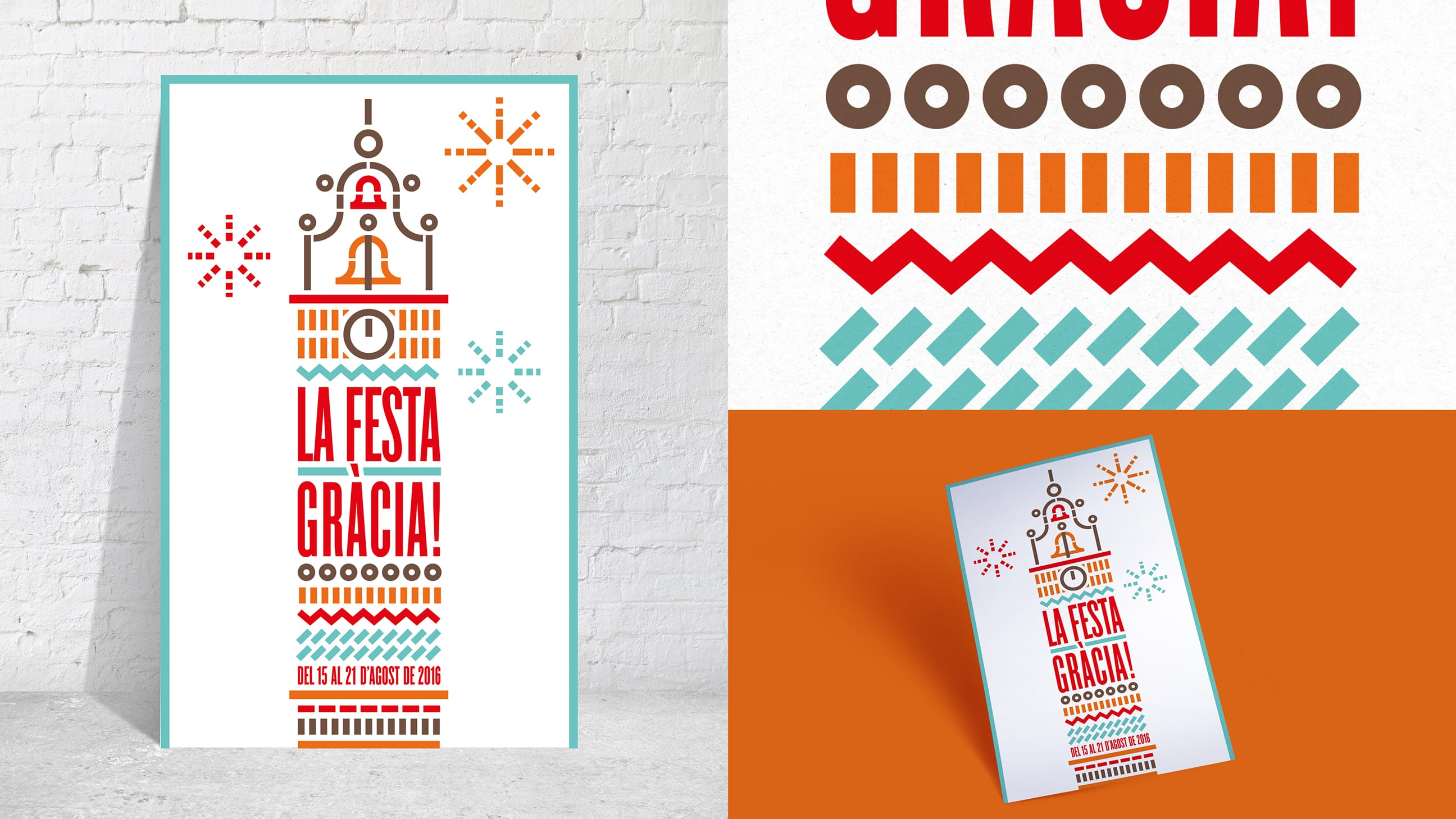 Diseño Cartel Festa Major Gracia | Croma Studio