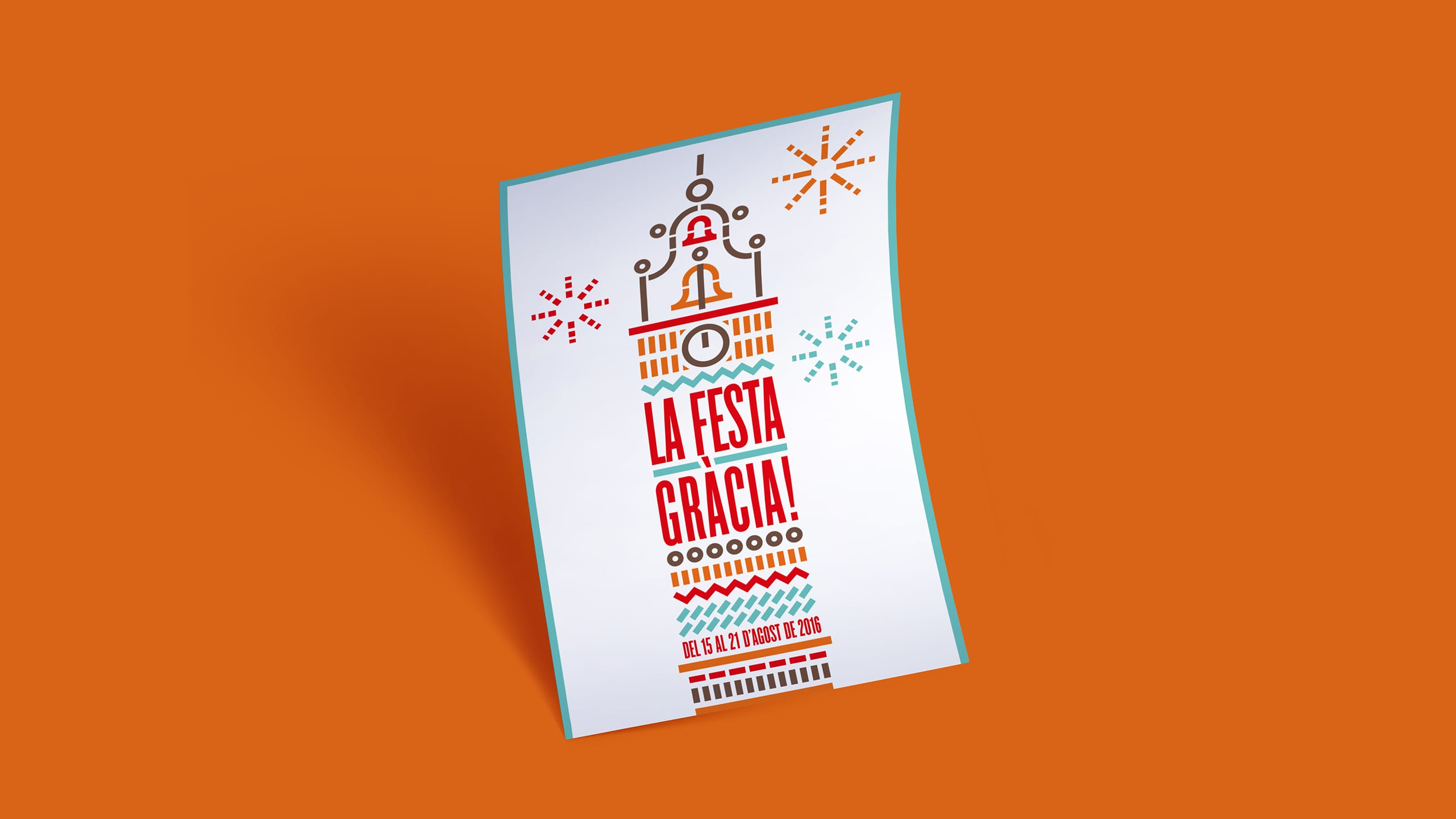 Diseño Cartel Festa Major Gracia | Croma Studio 2